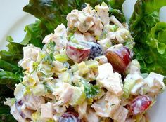Sweet 'n Nutty Tuna Salad: Tuna,  Celery, Pecans, Almonds or Walnuts, Grapes…