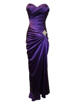 Strapless Long Satin Bandage Gown Bridesmaid Dress Prom Formal Crystal Pin Large Purple Stylish And Accessories Chantilly Sanchez 1000 Dollar Dresses