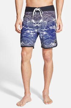356ae781a4636 Ezekiel 'Marlin' Scalloped Hem Board Shorts available at #Nordstrom  Scalloped Hem, Stretch