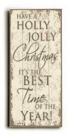 Holly Jolly Christmas  Holiday Typography by MistyMichelleDesign, $35.00