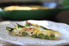 prosciutto asparagus and goat cheese frittata | greens & chocolate