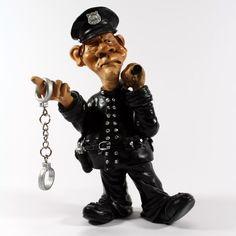 Profissões / Caricaturas - Policia - Bau da Cravus