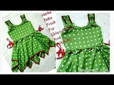 in this video we show how to make Beautiful how to make hanky baby frock cutting stitching tutorial easy method Frock design hope you enjoy the v. Frocks For Babies, Baby Girl Frocks, Frocks For Girls, Girls Dresses, Baby Dresses, Kids Frocks Design, Baby Frocks Designs, Kids Dress Patterns, Coat Patterns
