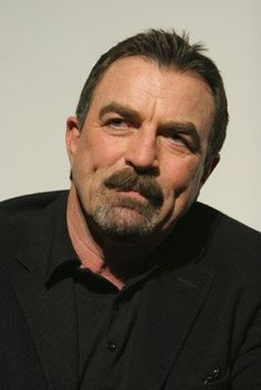 Tom Selleck, male actor, moustache, cute dimples, portrait, celeb, photo