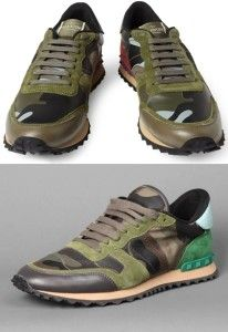 VALENTINO Camouflage Sneakers Online
