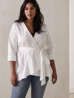 Tunic Blouse, Ruffle Blouse, Addition Elle, Linen Tunic, Cotton Tunics, Silver Jeans, Mom Outfits, Playing Dress Up, Couture