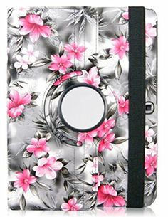 """Peach Pink and Smoke Gray {Chinese Floral Cover} 360 Degree Rotating Stand Case for Samsung Galaxy Tab 4 10.1"""" Inch Tablet (High Quality Koskin Vegan Faux PU Leather Cover + Slim Folding Lightweight Design) myLife Brand Products http://www.amazon.com/dp/B00QO21RKA/ref=cm_sw_r_pi_dp_zN9Xub0YAF1DC"""