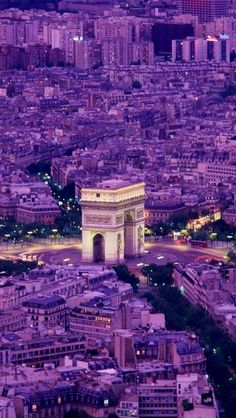 Arc De Triomphe in Paris, France. What a view from the top! 12 major boulevards lead from the Arc like the spokes of a wheel!
