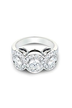 Bijoux Majesty   1.15 CT Anniversary Ring In 14k White Gold   $5100.00