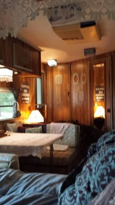 Lita My vintage camper feels like a cabin in the woods!