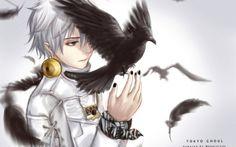 White haired Kaneki..black bird