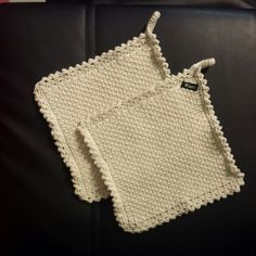 Tunisian crochet pot holders