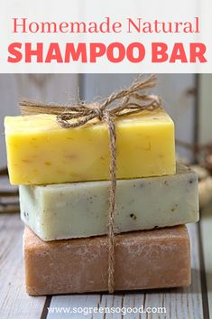 Homemade Natural Shampoo Bar - can be customized! - - This beauty recipe is perfect for those of you who never made a shampoo bar before as I replaced lye (used for saponification) with an organic pre-mad. Perfume Diesel, Lush Diy, Lush Shampoo Bar, Body Shampoo, Solid Shampoo, Best Shampoo Bars, Shampooing Bio, Handmade Soaps, Natural Beauty Products