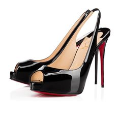 Private Number 120 Black Patent Leather - Women Shoes - Christian Louboutin