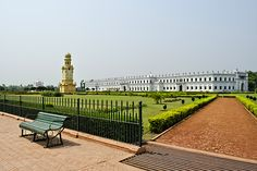 Nizamat Imambara, the biggest Imambara in India and Bengal is situated just opposite the Hazarduari Palace and hardly a few feet away from the Bhagirathi River.