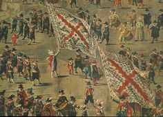 Brussels 1615. Detail of a painting by D. van Asloot (circa 1570 - 1626.)