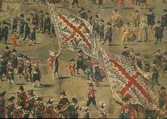 Brussels 1615. Detail of a painting by D. van Asloot (circa 1570 - 1626.)