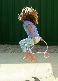 Jumping rope! Its fun for the kids and great exercise for you. Read this article for more ideas to burn calories while you play as a family: http://playonpurpose.blogspot.com/2013/01/play-to-get-in-shape_15.html