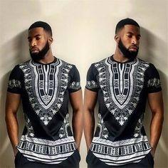 Men's T-shirt African Tribal Shirt Dashiki Print Succinct Hippie Blouse Casual Dashiki Shirt, African Fashion Designers, African Men Fashion, Africa Fashion, Mens Fashion, Fashion Outfits, Fashion Clothes, Fashion Ideas, Men's T Shirts