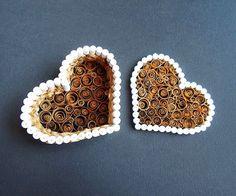 Caja regalo de papel en forma de corazón para san Valentin ~ Solountip.com