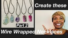 Wire Wrapping-part 2 #10 - YouTube Diy Jewelry Videos, Flat Nose, Work Gifts, Wire Wrapped Necklace, Gemstone Beads, Wire Wrapping, Originals, Wraps, Make It Yourself