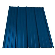 Metal Sales 16 ft. Classic Rib Steel Roof Panel in Ocean Blue - 2313635 - The Home Depot Steel Roof Panels, Metal Panels, Solar Panels, Roofing Options, Roofing Materials, Building Materials, Steel Roofing, Tin Roofing, Roofing Shingles