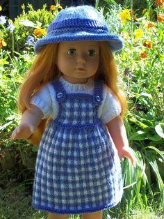 Crochet Dolls Clothes Picnic in the Park - PDF Doll Clothes knitting pattern for Gotz Precious Day American Girl Doll - Knitting Dolls Clothes, Ag Doll Clothes, Crochet Doll Clothes, Knitted Dolls, Doll Clothes Patterns, Crochet Dolls, Doll Patterns, American Girl Crochet, American Girl Diy