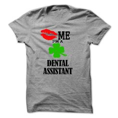 kiss me i am a DENTAL ASSISTANT T-Shirts, Hoodies. BUY IT NOW ==► Funny Tee Shirts