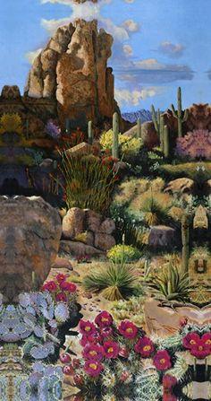 Desert Oasis 1 by Bob Quick Desert Oasis, Desert Art, Temple Gardens, Farm Gardens, Desert Aesthetic, Aesthetic Art, Amazing Photography, Landscape Photography, Desert Temple