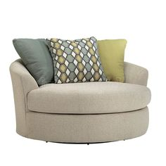 casheral linen oversized swivel accent chair living room