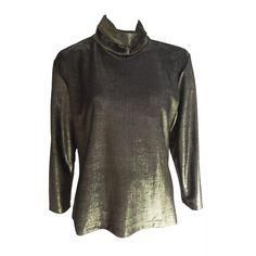 Pierre Cardin 80s gold disco blouse size 4 / 6. | From a collection of rare vintage blouses at https://www.1stdibs.com/fashion/clothing/blouses/ @1stdibscom @PierreCardin #vintage #fashion #shopping #luxury