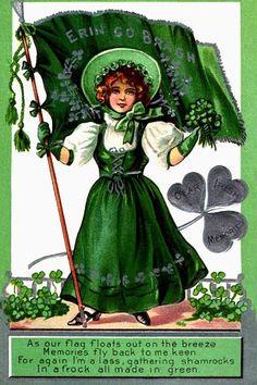 Vintage Saint Patrick's day card