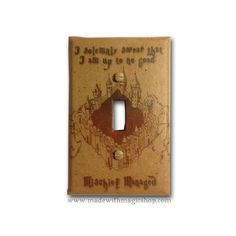 Marauder's Map - Harry Potter Inspired Switch Plate. $9.99, via Etsy.