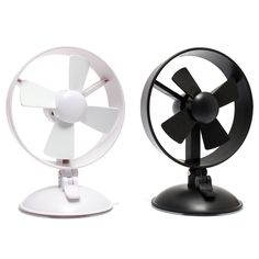 Description : New Flexible USB Desk Mini Fan With Sucker For Notebook Laptop PC Black White Strong sucker design, can be sticke on the smooth plane and put