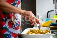 Man prepares the new potatoes for Christmas Dinner royalty-free stock photo Royalty Free Images, Royalty Free Stock Photos, Kiwiana, Christmas Background, Image Now, Potatoes, Dinner, Easy, Photography