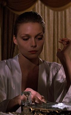 Michelle Pfeiffer - Scarface (1983) Scarface Movie, Elvira Scarface, Scarface Quotes, Michelle Pfeiffer Scarface, Elvira Hancock, Stephane Audran, Live Wire, Al Pacino, Old Movies