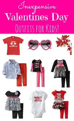 This Site Has Some Adorable And Inexpensive Valentines Day Outfits For Kids!  Both Boys U0026