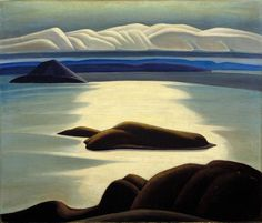 Harris, Lawren S. | Morning, Lake Superior, Around 1921-1928 | Montreal Museum of Fine Arts | Quebec and Canadian Art Group Of Seven Artists, Group Of Seven Paintings, Tom Thomson, Emily Carr, Canadian Painters, Canadian Artists, Abstract Landscape, Landscape Paintings, Landscapes