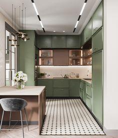 How to design your kitchen design in a thematic area – lamp ideas Kitchen Room Design, Kitchen Dinning, Kitchen Sets, Home Decor Kitchen, Interior Design Living Room, Home Kitchens, Design Hall, Küchen Design, Layout Design