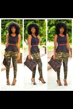 Style Pantry is a trend setter! And Camo print never gets old for me (military Brat! Camo Outfits, Casual Outfits, Camo Fashion, Women's Fashion, Funky Fashion, Work Fashion, Fashion Ideas, Leopard Print Pumps, Style Pantry