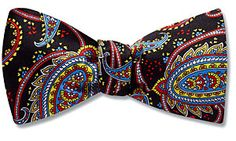 This designer's ties are expensive, but if you're going to go paisley, you might as well do it like this.