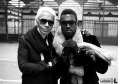 Karl Lagerfeld & Kanye West