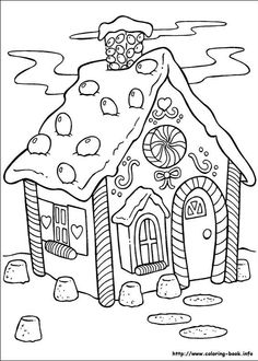 Hansel Gretel Gingerbread House Coloring Page There Are Probably 100 Christmas Pages Alone Many Santa Related But Also Several