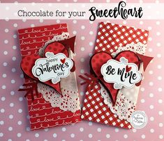 Wrap up a Hershey chocolate bar in something special for Valentine's day treats/gifts It's a kit! Also available in black