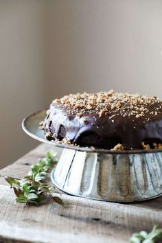 Gluten-free Brownie Cake with Cookie Dough Filling - Jessi's Kitchen