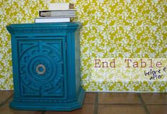 End Table Re-do {Before & After} - The Girl Creative