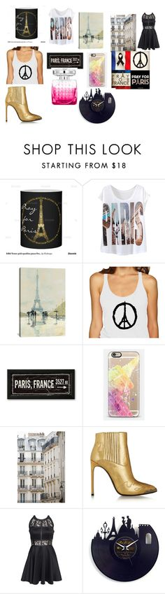 """Pray For Paris"" by danielle-bff-renee on Polyvore featuring iCanvas, Casetify, Haussmann, Yves Saint Laurent, Jimmy Choo and AX Paris"