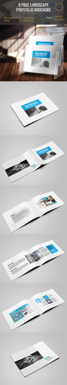 8 Pages Landscape Portfolio Brochure Template #design Download: http://graphicriver.net/item/8-pages-landscape-portfolio-brochure/11439120?ref=ksioks