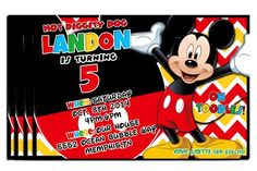 Mickey Mouse Clubhouse Birthday Party Invitations - Personalize and Print