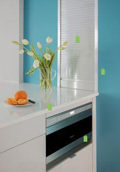 Laranja e azul na cozinha! ;-D
